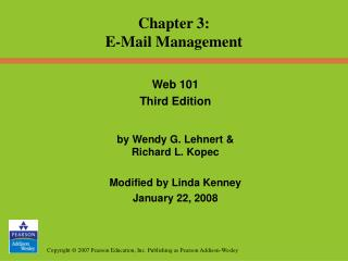 Chapter 3: E-Mail Management