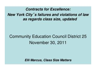 Contracts for Excellence: