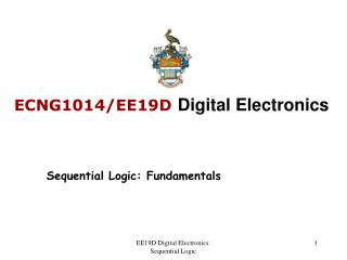 ECNG1014/EE19D Digital Electronics