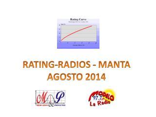 RATING-RADIOS  - MANTA  AGOSTO 2014