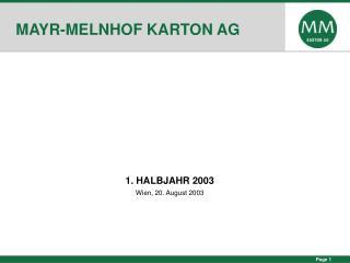 MAYR-MELNHOF KARTON AG