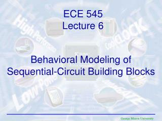 Behavioral Modeling of Sequential-Circuit Building Blocks