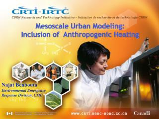 Mesoscale Urban Modeling:                                Inclusion of  Anthropogenic Heating