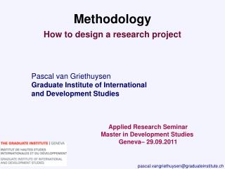 Pascal van Griethuysen Graduate Institute of International and Development Studies