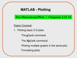 MATLAB - Plotting
