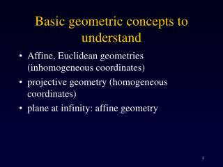 Basic geometric concepts to understand