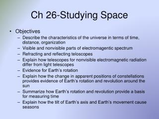 Ch 26-Studying Space