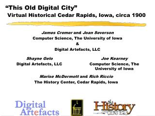 This Old Digital City   Virtual Historical Cedar Rapids, Iowa, circa 1900