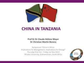 CHINA IN TANZANIA