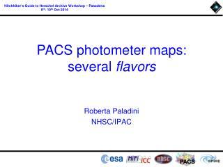 Roberta Paladini NHSC/ IPAC