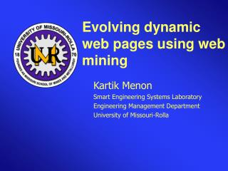 Evolving dynamic web pages using web mining