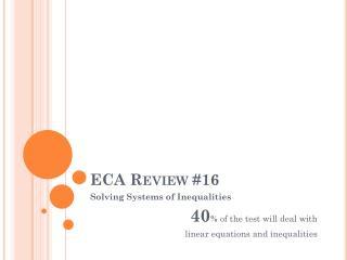 ECA Review #16