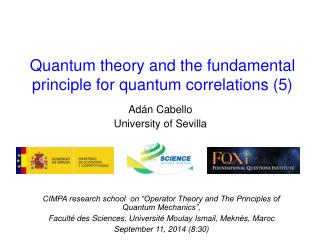 Quantum theory and the fundamental principle for quantum correlations (5)