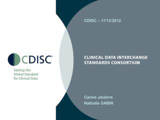 CDISC – 17/12/2012