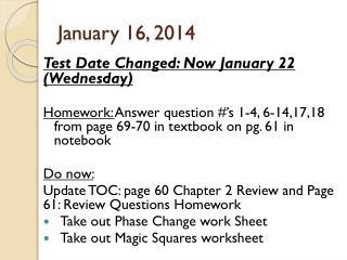 January 16, 2014