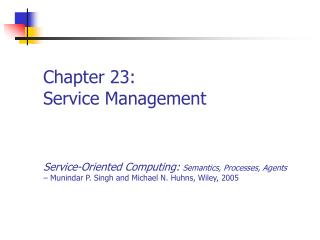 Chapter 23: Service Management