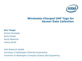 Wirelessly-Charged UHF Tags for  Sensor Data Collection