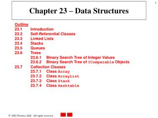 Chapter 23 – Data Structures