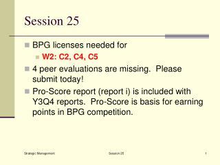 Session 25