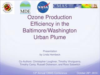 Ozone Production Efficiency in the Baltimore/Washington Urban Plume