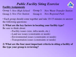 Public Facility Siting Exercise