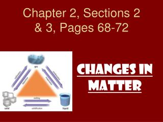 Chapter 2, Sections 2 & 3, Pages 68-72