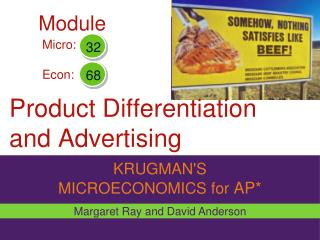 Product Differentiation  and Advertising