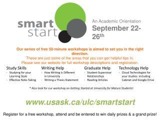 An Academic Orientation September 22-26 th