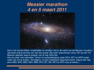 Messier marathon 4 en 5 maart 2011