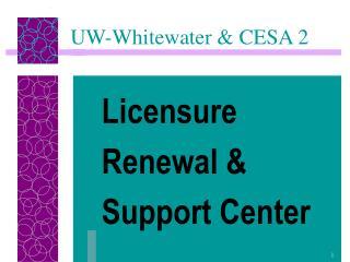 UW-Whitewater & CESA 2