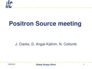 Positron Source meeting