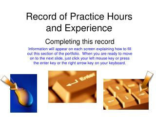 Record of Practice Hours  and Experience