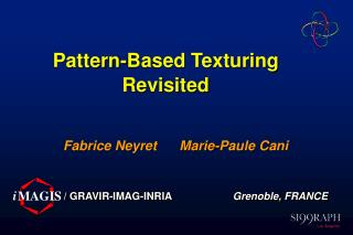 Pattern-Based Texturing Revisited