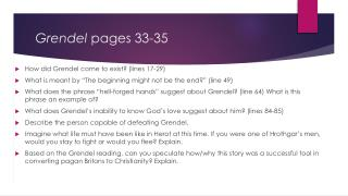 Grendel  pages 33-35