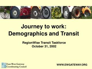 Journey to work:  Demographics and Transit