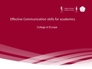 Effective Communication skills for academics