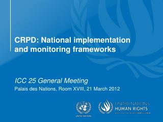 CRPD: National implementation and monitoring frameworks