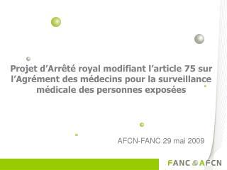 AFCN-FANC 29 mai 2009
