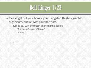 Bell Ringer 1/23