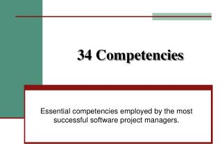 34 Competencies