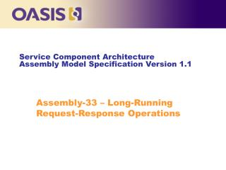 Service Component Architecture Assembly Model Specification Version 1.1