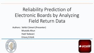Reliability Prediction  of Electronic  Boards by Analyzing Field Return  Data