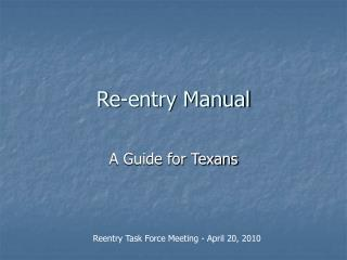 Re-entry Manual