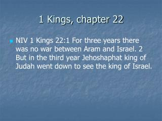 1 Kings, chapter 22