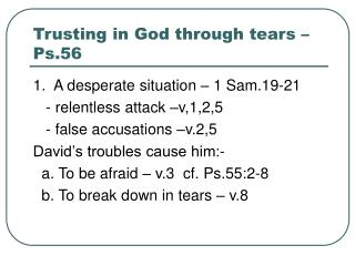 Trusting in God through tears – Ps.56