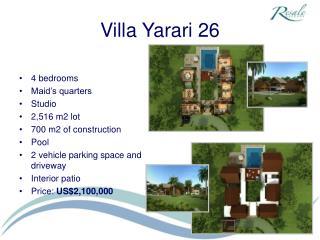 Villa Yarari 26