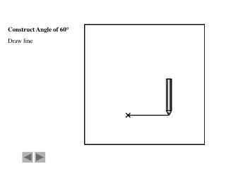 Construct Angle of 60° Draw line