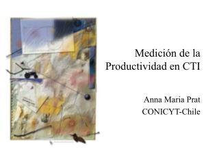 Medici n de la Productividad en CTI