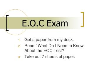 E.O.C Exam
