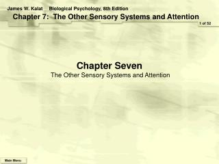 Chapter Seven The Other Sensory Systems and Attention
